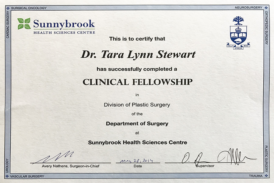 sunnybrook clinical fellow